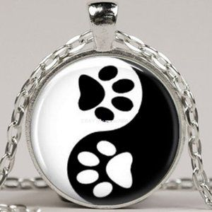Necklace- NEW- Dog Cat Paw Print